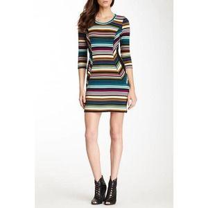 NWT Papillon teal striped super soft contour dress